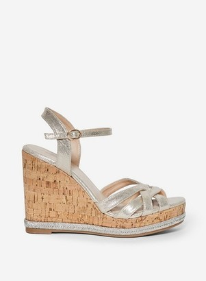Dorothy Perkins Womens Rose Gold 'Rhoda' Wedges, Gold