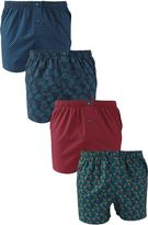 Paisley Woven Boxers Four Pack
