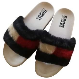 Tommy Jeans Blue Faux fur Sandals