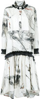 Antonio Marras abstract print shirt dress