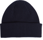 Paul Smith Ribbed-knit cashmere beanie hat