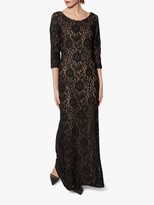 Gina Bacconi Mirabella Lace Overlay Maxi Dress, Black