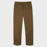Paul Smith Men's Standard-Fit Khaki Cotton-Twill Stretch Chinos