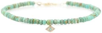 Sydney Evan Exclusive to Mytheresa a Evil Eye 14kt gold, turquoise and diamond bracelet