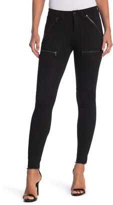 Blanknyc Denim Solid Ponte Zip Pocket Skinny Pants