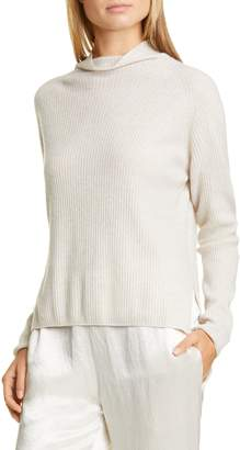 Max Mara LEISURE Spiga Ribbed Wool & Cashmere Funnel Neck Sweater