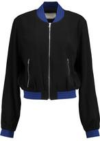 Alexis Trei Stripe-Trimmed Crepe Jacket