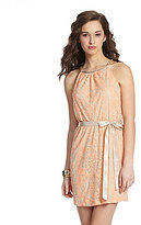 Teeze Me Halter-Chain Lace Dress