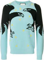 Gucci bird patch jumper