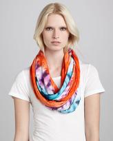 Brightly Twisted Tie-Dye-Print Infinity Scarf