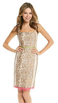 T Tahari Sleeveless Squareneck Gisella Dress