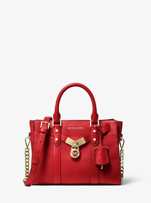 MICHAEL Michael Kors Nouveau Hamilton Small Pebbled Leather Satchel