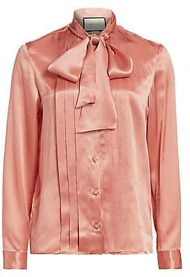 Gucci Women's Silk Tieneck Blouse