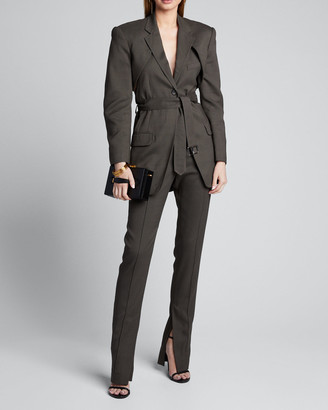 Peter Do Skinny Slit-Ankle Pants