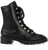 Thumbnail for your product : Stuart Weitzman Kolbie Leather Combat Boots