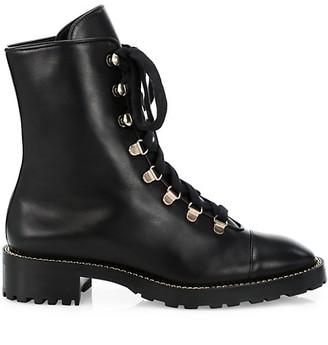 Stuart Weitzman Kolbie Leather Combat Boots