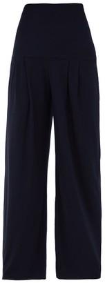 Norma Kamali High-rise Pleated Wide-leg Trousers - Womens - Navy