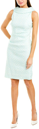 Sara Campbell Linen-Blend Sheath Dress
