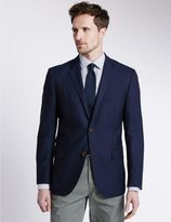 Marks and Spencer Pure New Wool Tailored Fit 2 Button Blazer