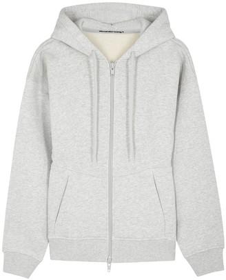 Alexander Wang Light grey hooded cotton sweatshirt