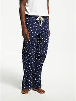 John Lewis Brush Stroke Print Pyjama Bottoms, Navy