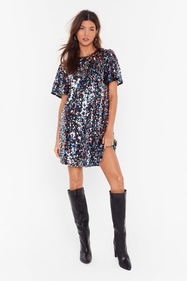 Nasty Gal Womens Give Me The Night Sequin Mini Dress - Grey - 4