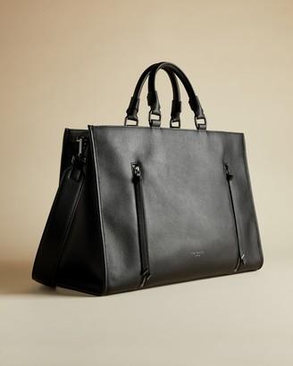 Ted Baker Zip Detail Leather Laptop Bag