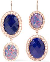 Andrea Fohrman 18-karat Rose Gold Multi-stone Earrings