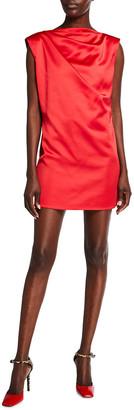 GAUGE81 Cali Draped Satin Mini Dress