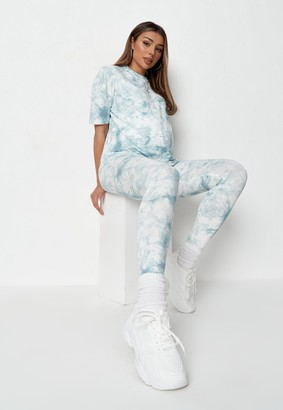 Missguided Blue Co Ord Tie Dye Maternity Leggings