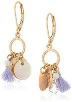 "lonna & lilly Lilac Breeze"" Gold-Tone/Purple Shaky Open Drop Earrings"