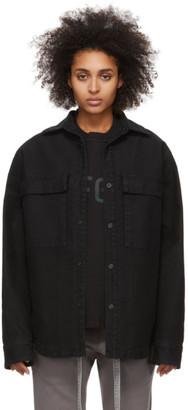 Fear Of God Black Canvas Shirt Jacket