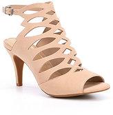 Gianni Bini Halven Nubuck Leather Caged Dress Sandals