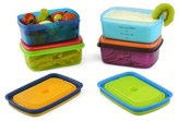 Fit & Fresh Kids 1-Cup Soft Touch Lid Lunch Containers with Ice Packs