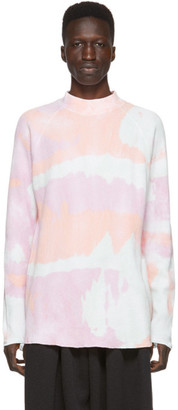 SASQUATCHfabrix. Multicolor Tie-Dye Turtleneck