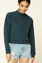 Forever 21 FOREVER 21+ Mock Neck Fleece Sweatshirt