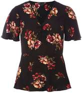 Dorothy Perkins Black Chestnut Floral Print Tea Top
