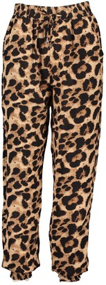 boohoo Woven Leopard Print Relaxed Joggers