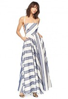 Milly Exclusive Diagonal Stripe Apron Dress