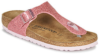 Birkenstock GIZEH girls's Flip flops / Sandals in Pink