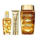 Kérastase Elixir Ultime Huile Lavante Bain 250ml, Crème Fine 150ml And Original Hair Oil 100ml Bundle (Pack of 4)