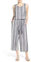 Women's Two By Vince Camuto Stripe Linen Blend Culotte Jumpsuit