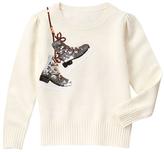 Gymboree Snow Bunny Ice Skates Crewneck Sweater - Girls