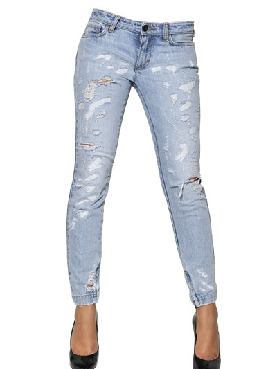 Dolce & Gabbana Pretty Destroyed Washed Stretch Jeans