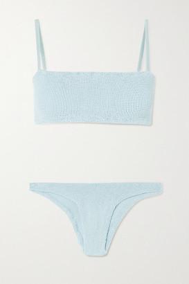 Hunza G Net Sustain Gigi Seersucker Bikini - Sky blue