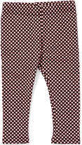 Nano Blush & Black Dot Jacquard Leggings - Infant, Toddler & Girls
