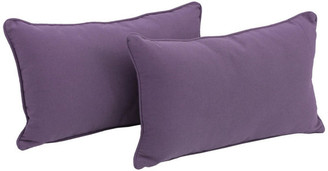 """Blazing Needles 20"""" by 12IN Solid Twill Back Support Pillows, Grape"""