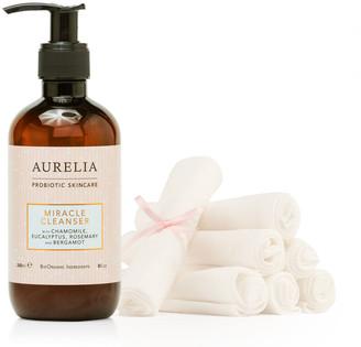 Aurelia Probiotic Skincare Aurelia Miracle Cleanser 240Ml & Muslin Cloths X 7 Kit