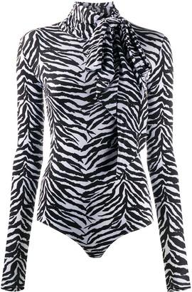 MM6 MAISON MARGIELA Zebra Print Bodysuit