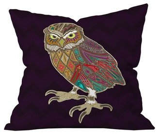 """Deny Designs Sharon Turner Little Brother Owl Outdoor Throw Pillow Size: 16"""" H x 16"""" W"""